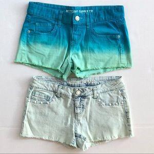 Mossimo Shorts Bundle - Denim and Ombré shorts